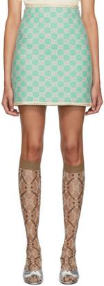 Gucci Blue GG Tweed Miniskirt