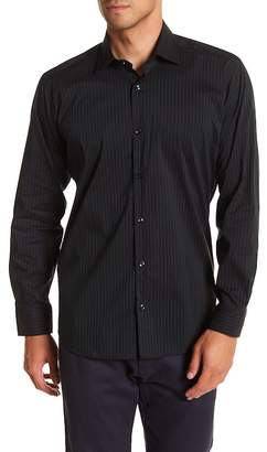 Jared Lang Pinstripe Patterned Woven Shirt