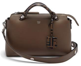 Fendi By The Way Leather Shoulder Bag - Womens - Brown Multi