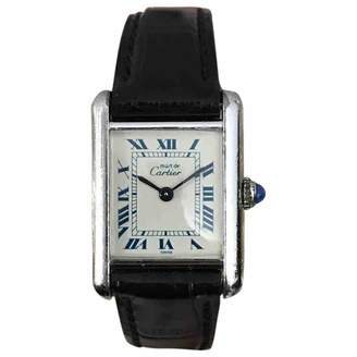 Cartier Vintage Tank Must Silver Silver Watches