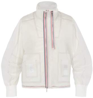 Thom Browne Pu Rain Jacket - Mens - White