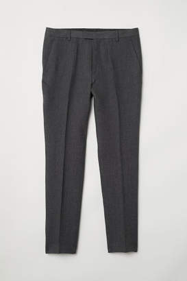 H&M Slim Fit Linen Suit Pants - Gray