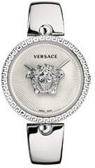 Versace 39mm Palazzo Empire Bangle Watch, White/Silver