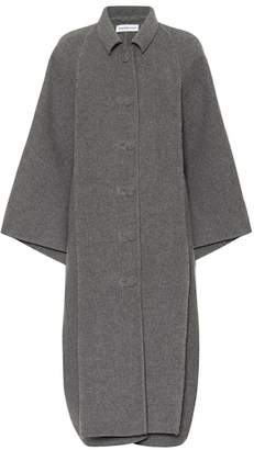 Balenciaga Layered wool cocoon coat