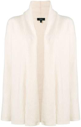 Theory ribbed open front cardigan