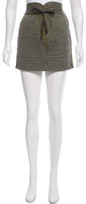 See by Chloe Rib Knit-Accented Mini Skirt