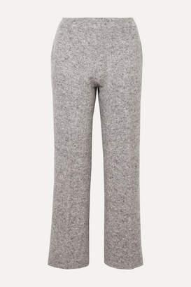 Agnona Melange Wool-blend Wide-leg Pants - Dark gray