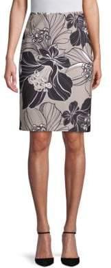 Calvin Klein Floral Pencil Skirt