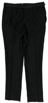 Lanvin Wool Flat Front Pants