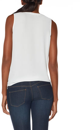 The Limited Sleeveless Tie-Front Blouse