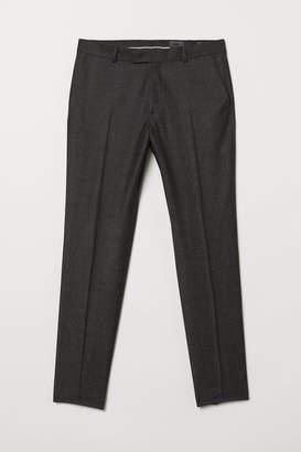H&M Slim fit Wool Suit Pants - Black