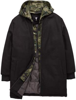 Very Boys Longline Jacket with Removable Hood and Lining