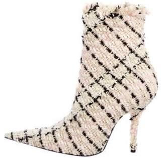 Balenciaga Tweed Ankle Boots w/ Tags pink Tweed Ankle Boots w/ Tags