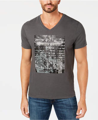 Kenneth Cole New York Kenneth Cole Men's V-Neck Graphic T-Shirt