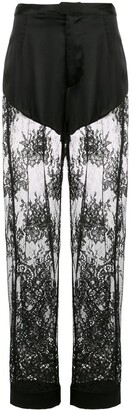 Fleur Du Mal Cillis lace pajama trousers