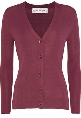LIBRARY Goat Ribbed-Knit Cardigan