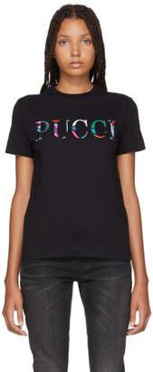 Emilio Pucci (エミリオプッチ) - Emilio Pucci ブラック ボンデッド ロゴ T シャツ