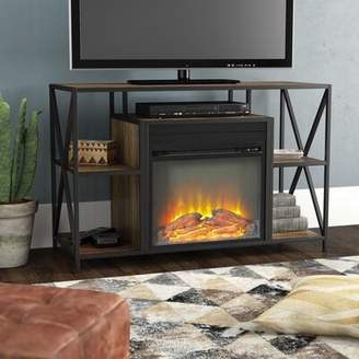 "Neff Union Rustic TV Stand for TVs up to 40"" with Electric Fireplace Union Rustic"