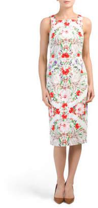 Floral Printed Midi Sheath Dress