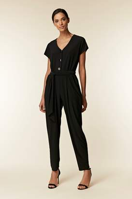 e98467212e3 Wallis Black Button Top Jumpsuit