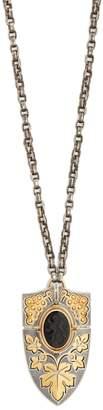 Elie TOP Yellow-gold, onyx & diamond pendant necklace