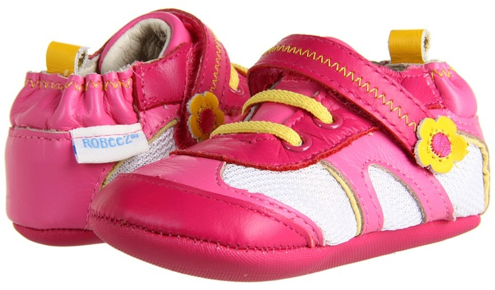 Robeez Playful Patty Mini Shoez (Infant/Toddler) (Fuchsia) - Footwear