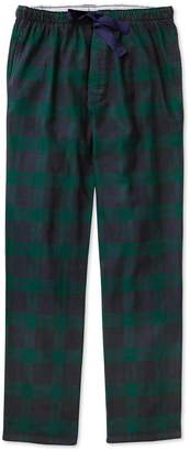 Charles Tyrwhitt Navy and Green Check Brushed Cotton Pajama Pants Size Large