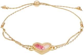 Lauren Conrad Pink Heart Bauble Shaker Adjustable Bracelet
