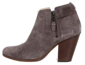 Rag & Bone Suede Round-Toe Ankle Boots Grey Suede Round-Toe Ankle Boots