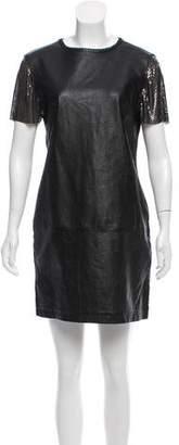 Nicole Miller Leather Mini Dress w/ Tags