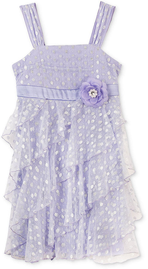 Amy Byer BCX Kids Dress, Little Girls Glitter Ruffle Dress