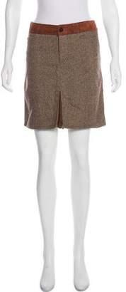 Dolce & Gabbana Suede-Trimmed Mini Skirt