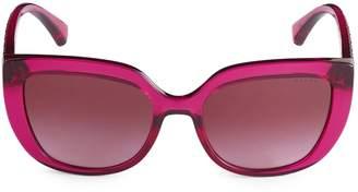 Ralph Lauren 54MM Cat Eye Burgundy Sunglasses