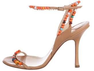 Jimmy Choo Leather Embellished Sandals