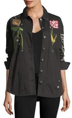 Cinq à Sept Botanical Canyon Embroidered Jacket