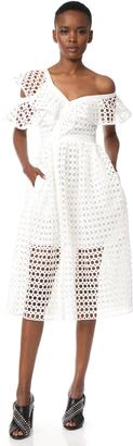 Self Portrait Lace Frill Midi Dress $545 thestylecure.com