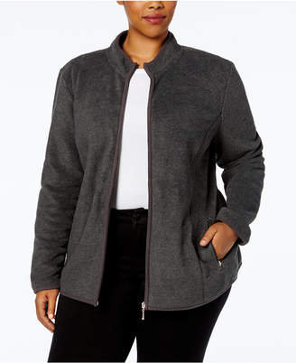 Karen Scott Plus Size Zeroproof Fleece Jacket