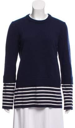 Michael Kors Cashmere-Blend Combo Sweater