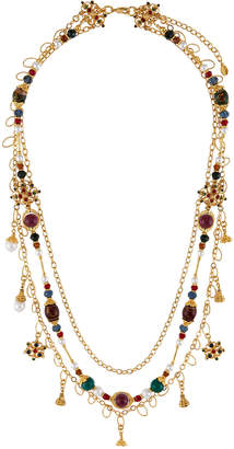 Jose & Maria Barrera Draped 3-Chain Crystal Necklace