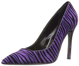 Just Cavalli Women's Flocked Zebra High Pump Dress