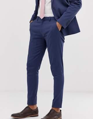 Asos Design DESIGN wedding super skinny suit pants in stretch cotton in indigo blue