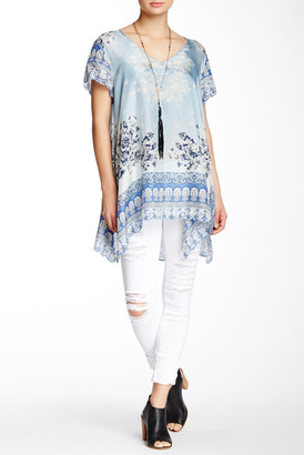 Johnny Was Printed Silk Tunic $210 thestylecure.com