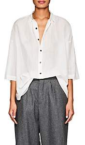 Pas De Calais Women's Sheer Cotton-Silk Blouse - White