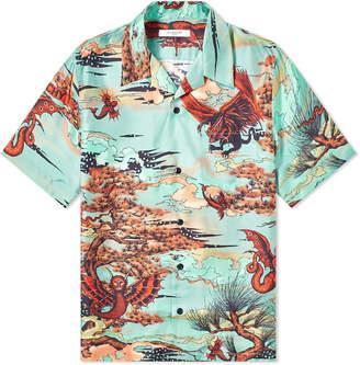 9f961300 Givenchy Winged Beast Silk Hawaiian Shirt