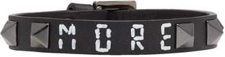 Valentino Black Garavani Leather More Rockstud Bracelet