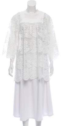 Miguelina Silk Crochet Blouse w/ Tags