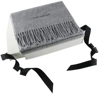 Black Corporate Branded Grey Cashmere Scarf