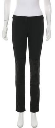 Derek Lam Suede-Paneled Skinny Pants w/ Tags