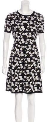 Kenzo Floral Short Sleeve Mini Dress