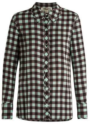 Diane von Furstenberg Cossier Print Stretch Silk Shirt - Womens - Green Print